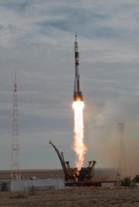 Успешный запуск СОЮЗ ТМА-18М 02.09.2015 federalspace.ru
