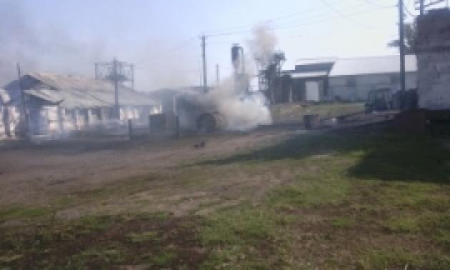 В Оренбуржье ликвидирован крупный пожар на элеваторе