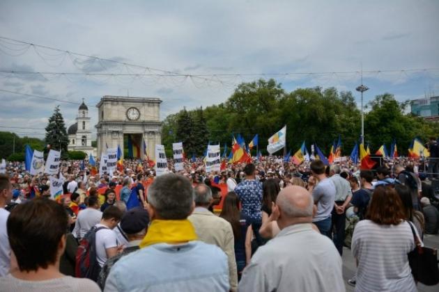 Протесты в Молдавии.