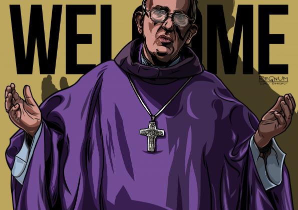 Папа Франциск призвал католиков принять беженцев.