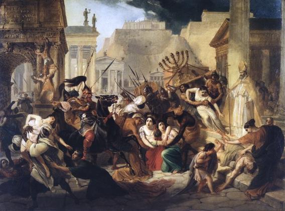 К. Брюллов. Нашествие Гейзериха на Рим (1836)