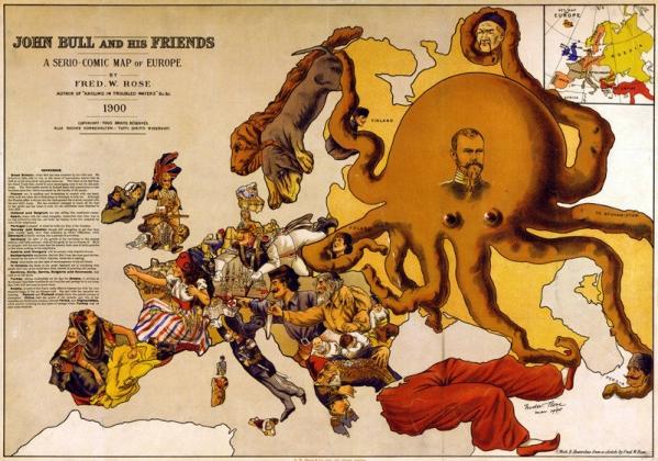 Карикатура на Россию 1900 год.