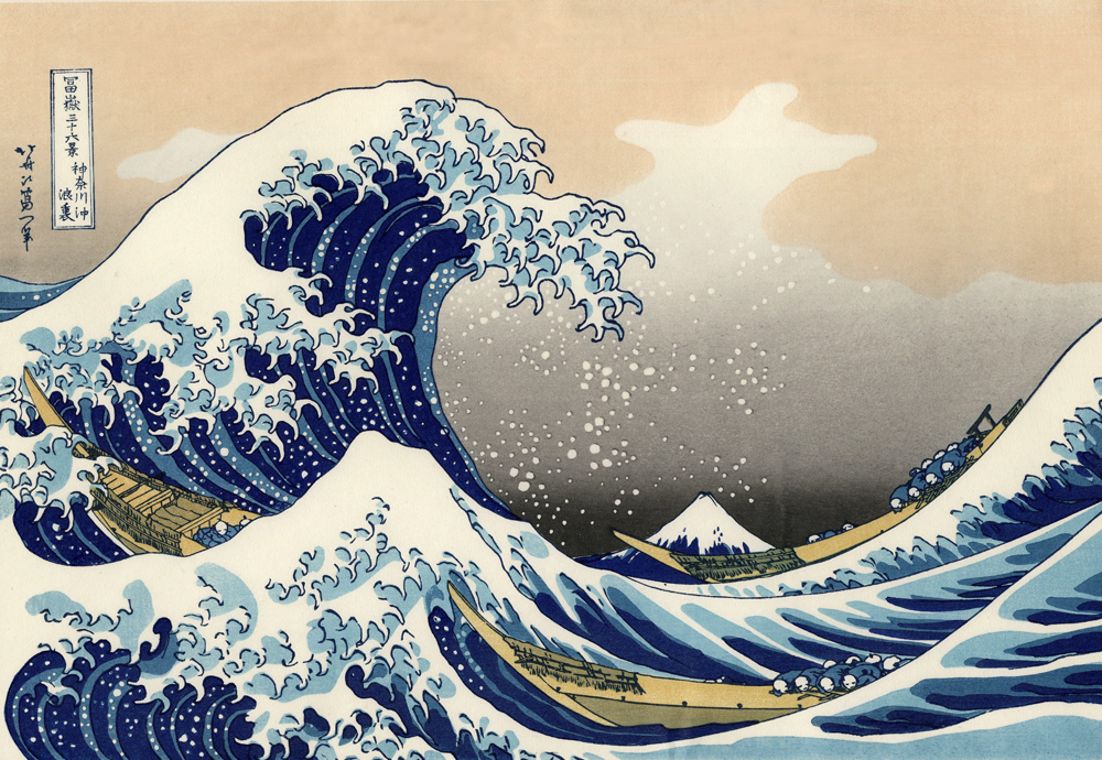 an analysis of japanese tradition in the great wave off kanagawa by katsushika hokusai