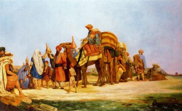 Ричард Дадд. Караван, остановившийся перед морским берегом (1843)
