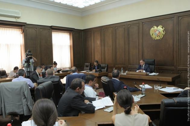 На заседании в парламенте Армении. Фото: parliament.am