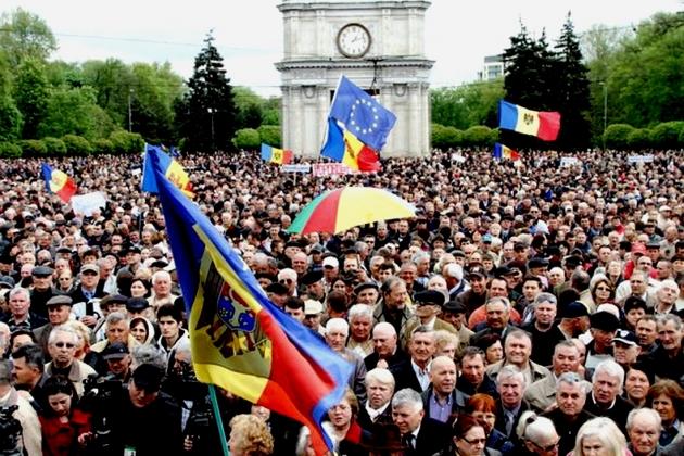 Митинг в Кишиневе.