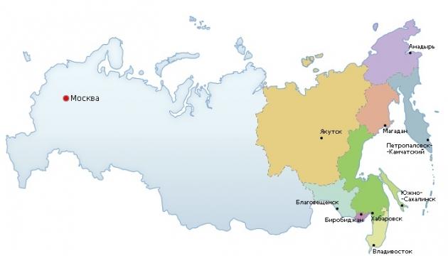 Дальневосточный федеральный округ. Иллюстрация dfo.gov.ru