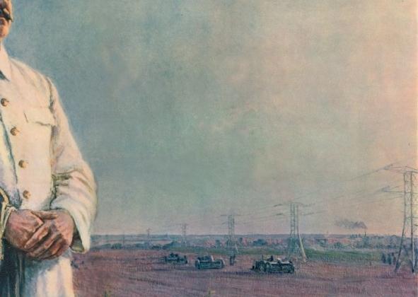 Ф. Шурпин. Утро нашей Родины (1948). Фрагмент