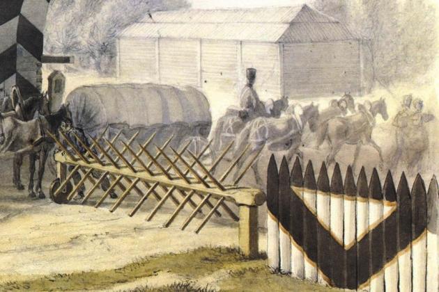 Христиан Фабер дю Фор . Гжатск, 5 сентября 1812 года (фрагмент). 1827-1831