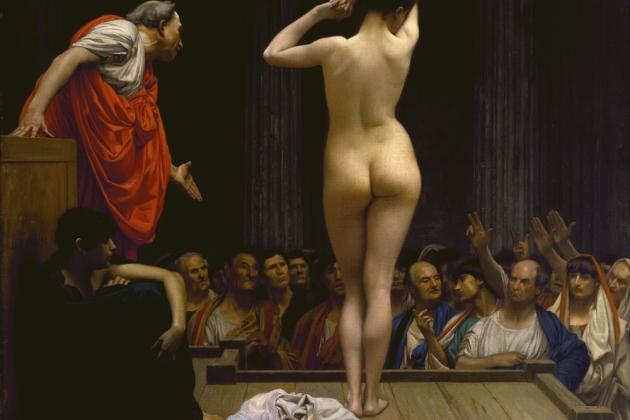 Жан-Леон Жером. Римский рынок рабов (фрагмент). 1884