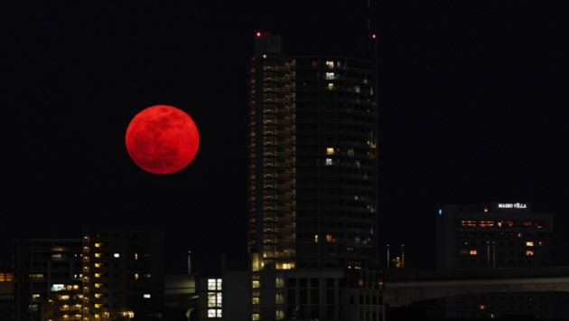 «Кровавая» луна.