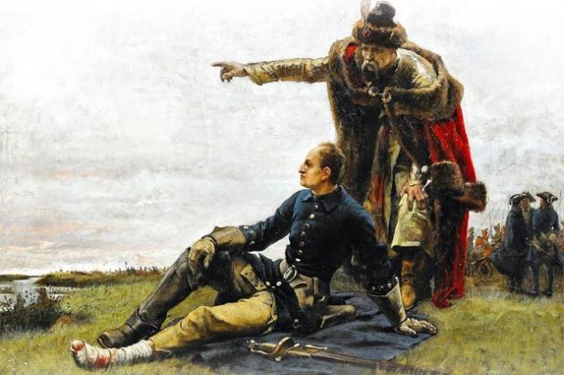 «Мазепа и Карл XII после Полтавской битвы» Картина Густава Седерстрёма. 1880г.