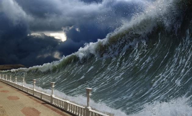 Волны цунами пройдут по всему Тихому океану