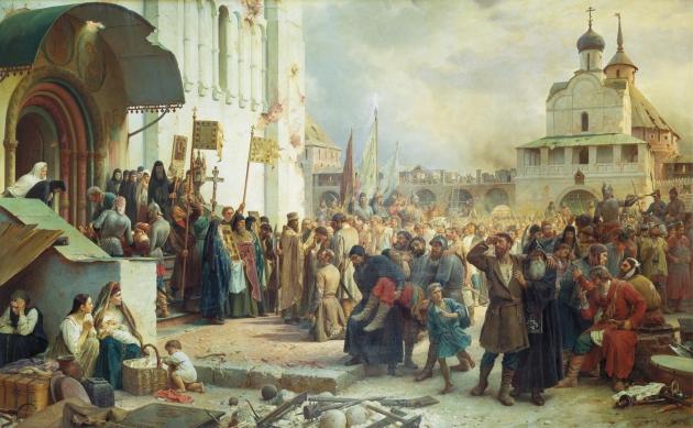 Василий Петрович Верещагин. Осада Троице-Сергиевской Лавры.1891.
