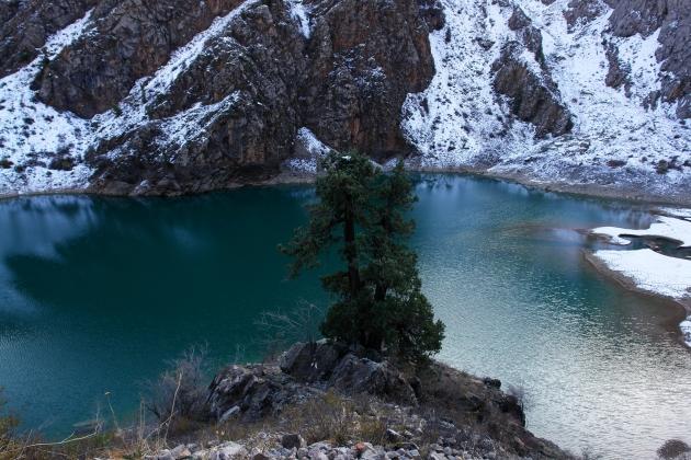 Озеро Урунгач, Узбекистан.