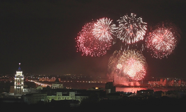 Фейерверк в Воронеже.