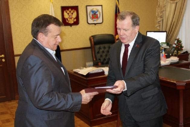 прием Юрия Кириченко в Алтайском заксобрании, декабрь, 2013 год