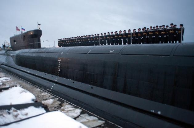 Российская ядерная подводная лодка.