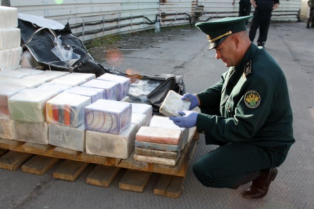 Кокаин в Калининградском порту. Фото предоставлено таможней.