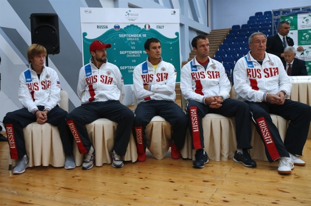 Российская команда на Кубке Дэвиса. 2015.