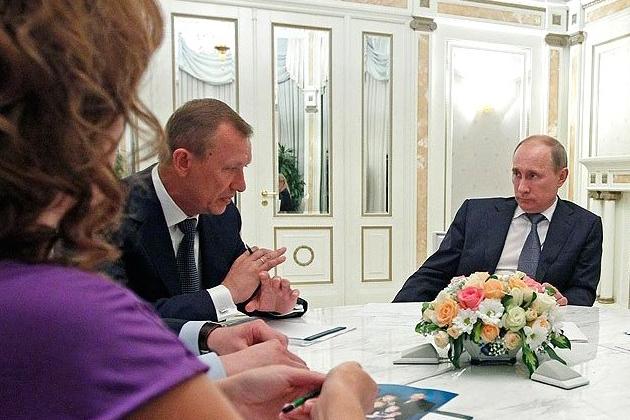 Николай Денин и Владимир Путин.