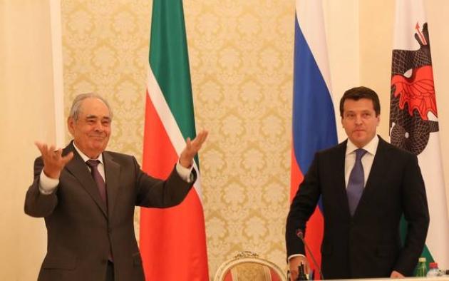 Минтимер Шаймиев и Ильсур Метшин.