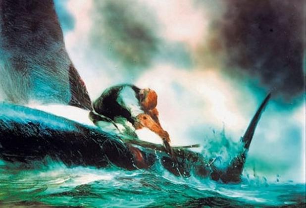 Цитата из м/ф «Старик и море», реж. Александр Петров (1999)