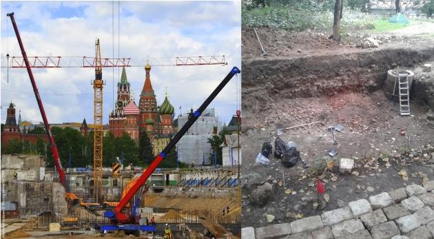 Зарядье, археологические раскопки. Москва.