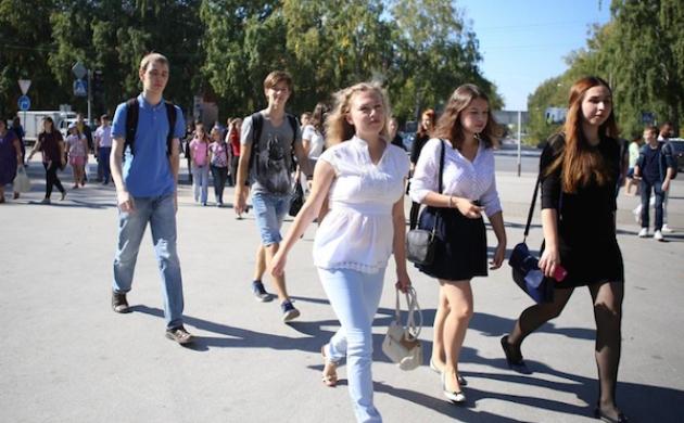 Студенты Новосибирского госуниверситета идут на занятия. Фото: nsu.ru