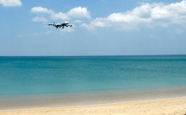 Самолет идет на посадку в аэропорт Пхукета. Фото: panoramio.com