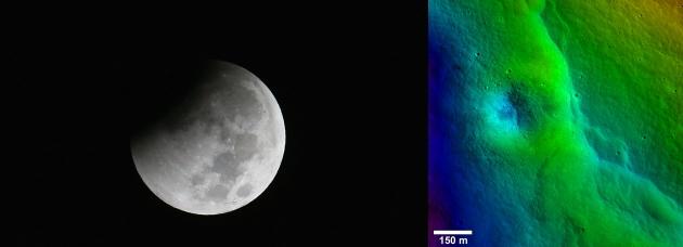 На Луне появились новые трещины и хребты