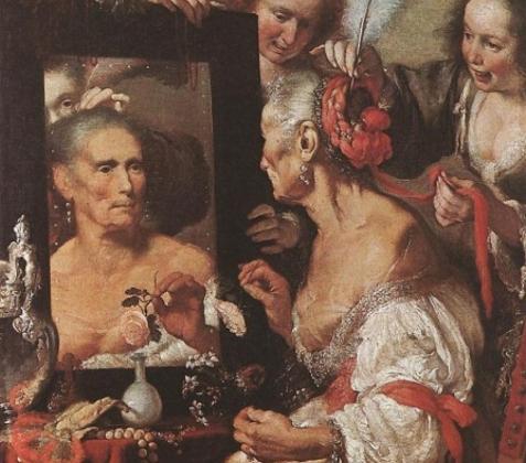 Бернардо Строцци. Старая кокетка. 1630