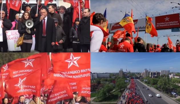 Митинг 27.09.2015 в Молдавии. Иллюстрации: socialistii.md