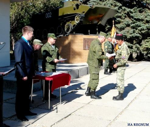 Церемония награждения танковых экипажей