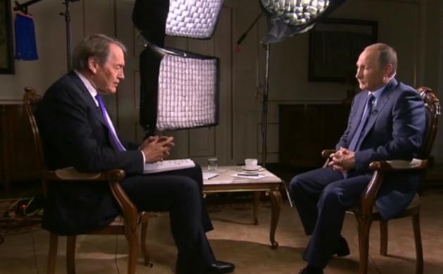 Путин дает интервью Чарли Роузу. 27.09.2015.