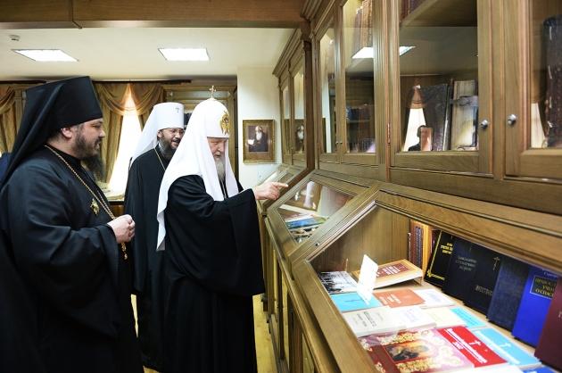 Посещение Патриархом Кириллом музея Библии. 27.09.2015.