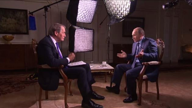 Путин и Чарли Роуз.  Цитата: Путин, интервью CBS и PBS сент. 2015.
