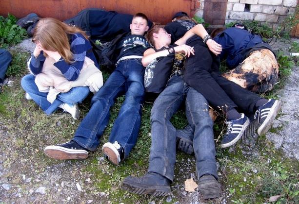 Подростки и алкоголь.
