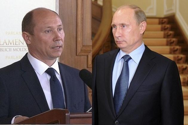 Премьер-министр Молдавии Валерий Стрелец и президент РФ Владимир Путин.