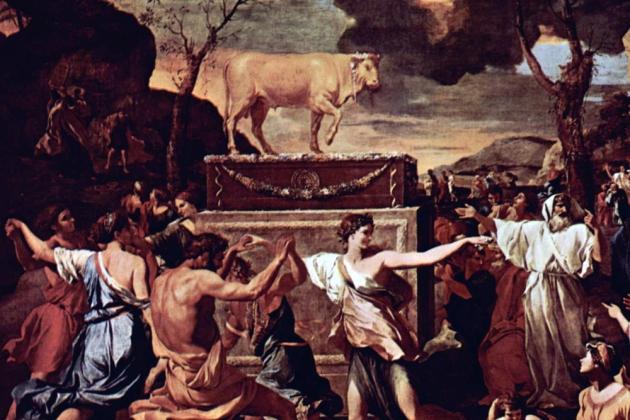 Никола Пуссен. Пляски вокруг золотого тельца. XVII век