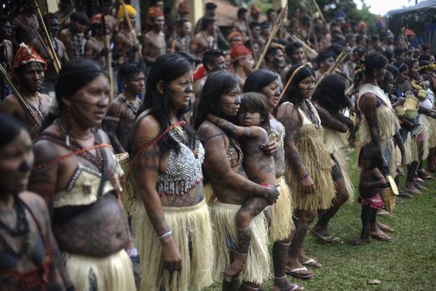 Индейцы мундуруку.Племя живущее в центральной части Амазонии.