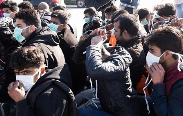 Беженцы на острове Лесбос.
