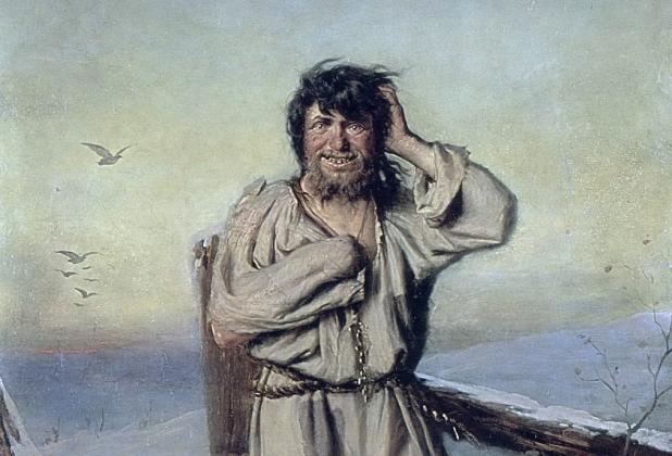 Василий Перов. Блаженный (1879). Фрагмент