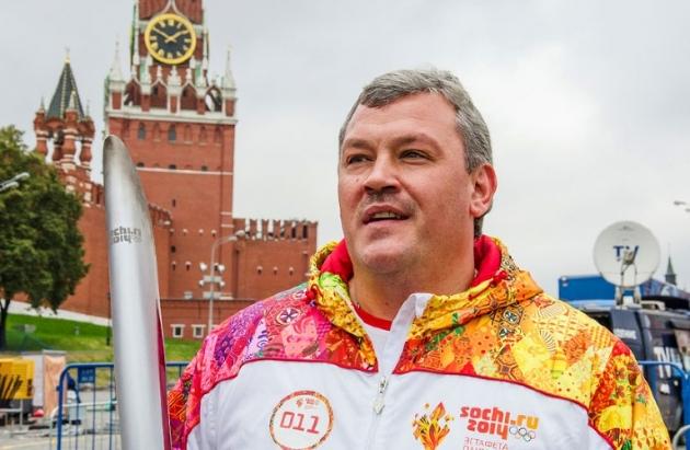 Сергей Гапликов на эстафете ГК «Олимпстрой».