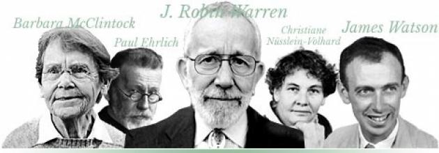 Нобелевские лауреаты по физиологии и медицине.