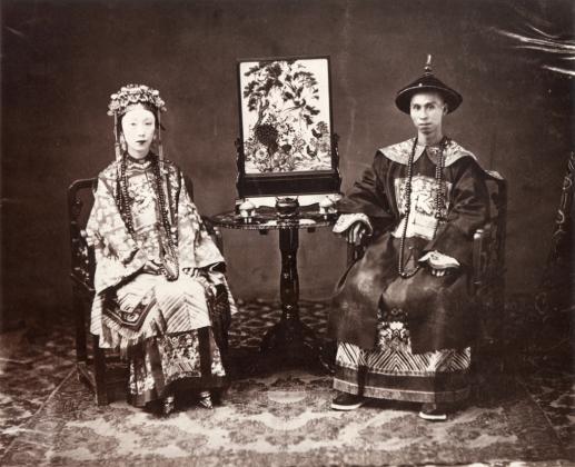 Китайский мандарин и его жена. (1861).
