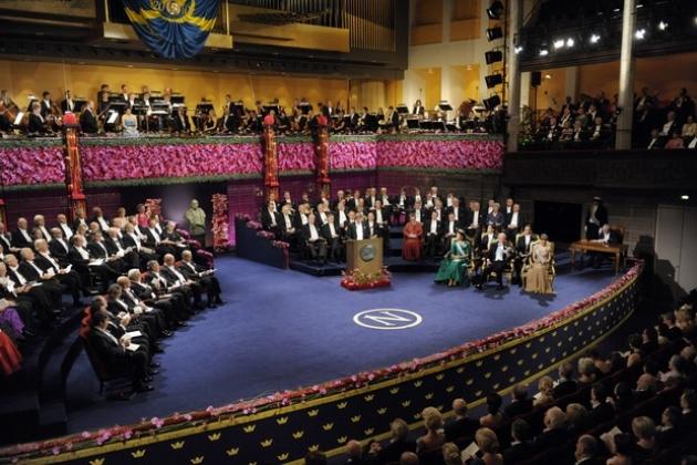 Церемония вручения Нобелевской премии.