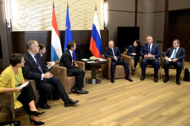 Встреча Путина с премьер-министром Люксембурга проходит в Сочи