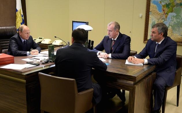 Владимир Путин встретился с новым губернатором Иркутской области