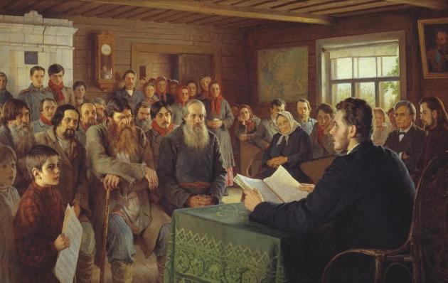 Николай Богданов-Бельский. Воскресное чтение в сельской школе. 1895.